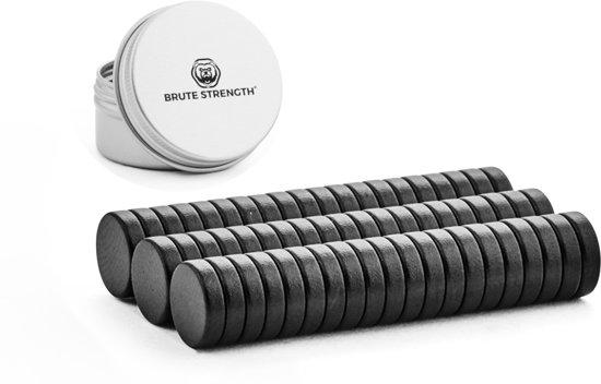 Super sterke magneten - Rond - 8 x 2 mm - 60 Stuks | Zwart