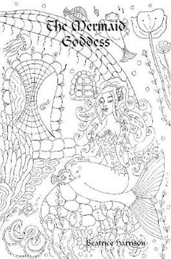 ''The Mermaid Goddess:'' Giant Super Jumbo Mega Coloring Book Features 100 Color Calm Pages of Exotic Mermaids, Goddess, Fairies, and More for Stress Relief (Adult Coloring Book)