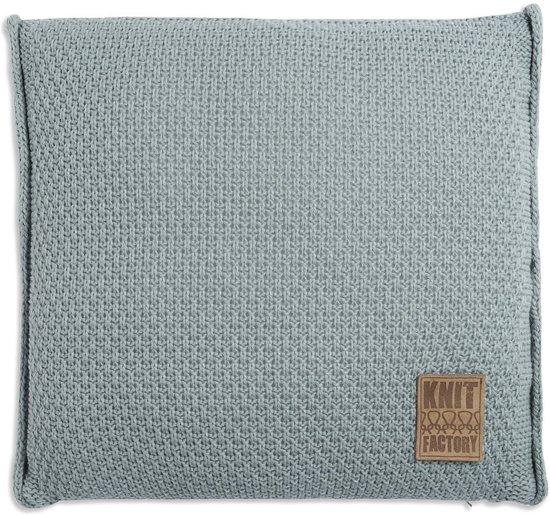 Knitfactory Jesse - Sierkussen - 50x50 Stone Green