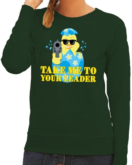 Coole Truien Dames.Bol Com Fout Paas Sweater Groen Take Me To Your Leader Voor Dames