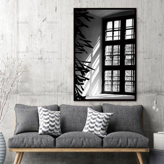 Foto Kunst Voor Aan De Muur.Canvas Schilderij Lichtval Kunst Aan Je Muur Xl Woonkamer Poster Zwart Wit 60 X 90 Cm