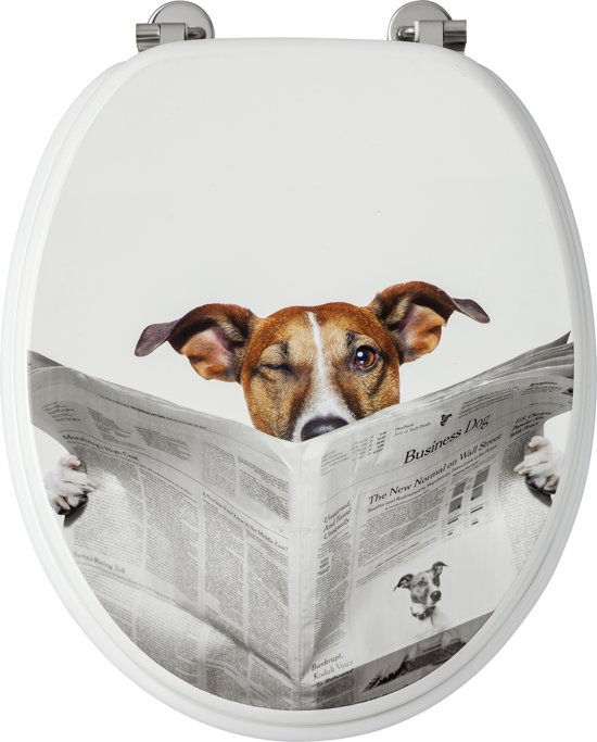Allibert wc-bril BUSINESS DOG - MDF -  verchroomde scharnieren - Decor