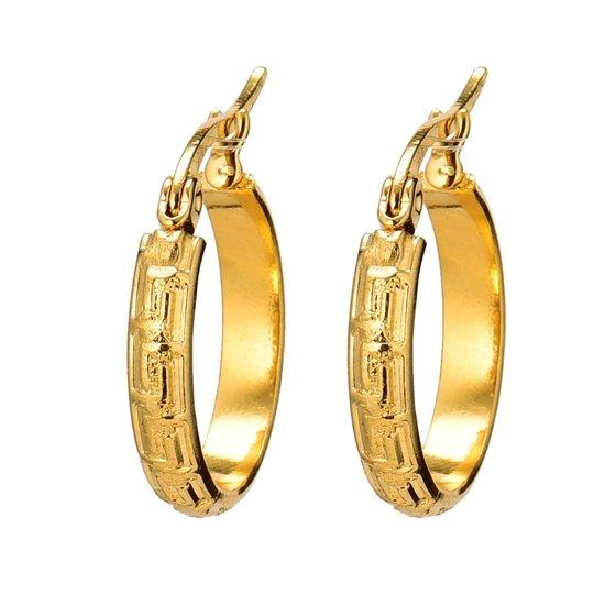 Gold creolen versace