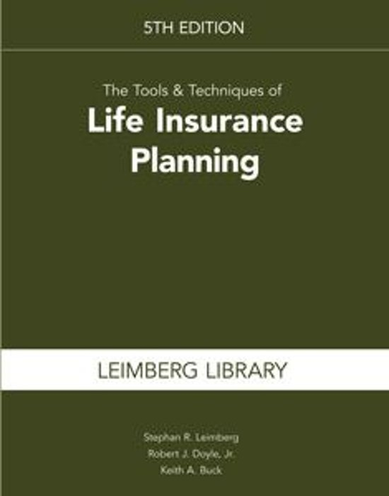 The Tools & Techniques of Life Insurance Planning