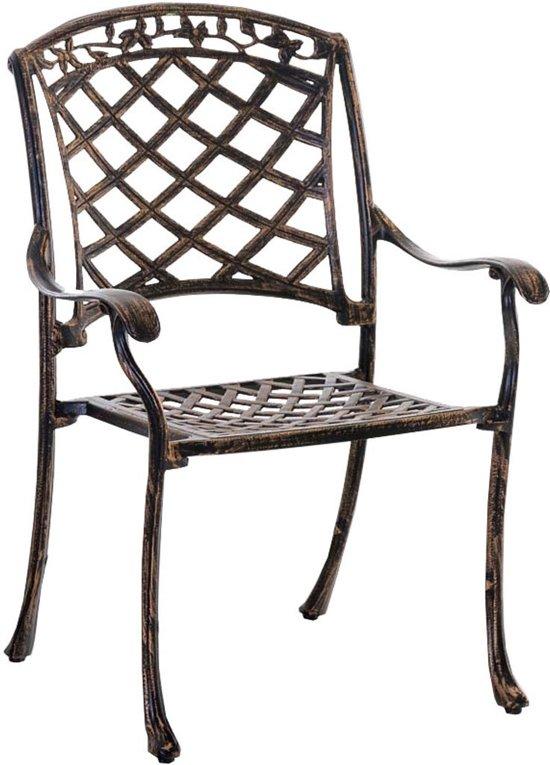 Clp Indira - Tuinstoel - Stapelbare - gegoten aluminium - bronskleur