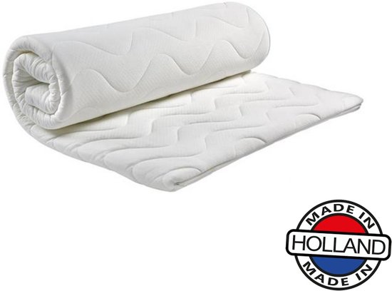 Comfort HR40 Koudschuim Topdekmatras -160x200x5cm- Anti-allergische wasbare Aloë Vera hoes met rits.