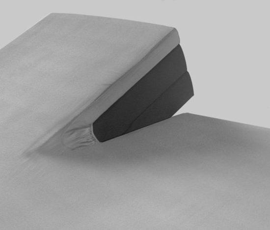Splittopper hoeslaken Grijs 180 x 200 - 220 + 10cm jersey katoen
