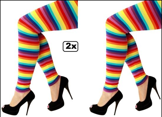 2x Legging Regenboog mt.M/L