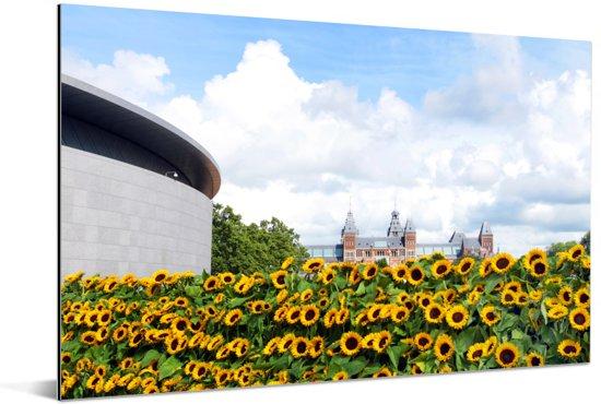 Het Van Gogh Museum in Amsterdam Aluminium 60x40 cm - Foto print op Aluminium (metaal wanddecoratie)