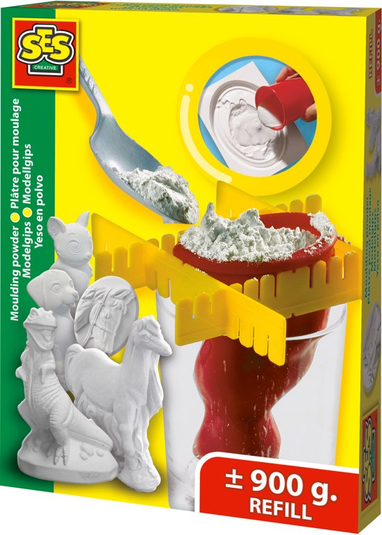 SES Creative 6331135 Klei 900g Wit materiaal voor pottenbakken en boetseren