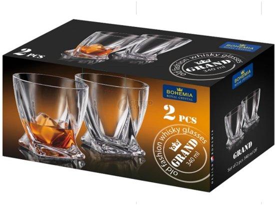 GRAND whisky glazen - set 2 stuks