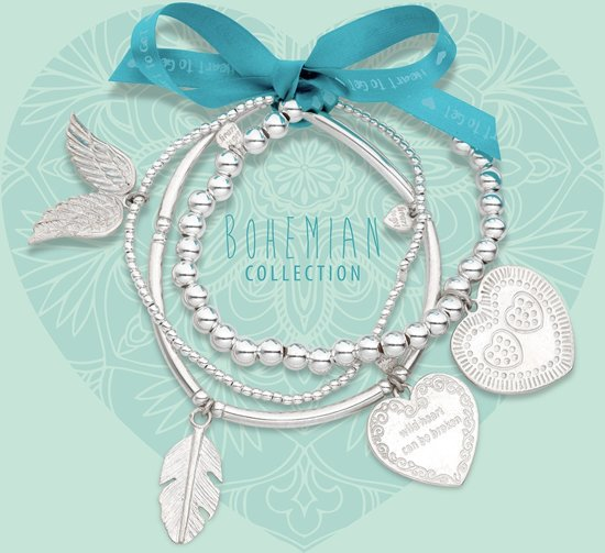 Heart to Get 3 elastic bracelet beads