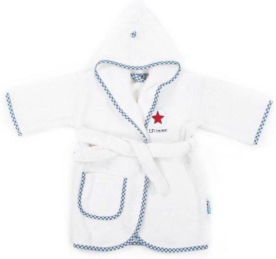 239ddeb668f bol.com | Lief! Boy Uni - Badjas - Katoen - 0-12 maanden - Wit