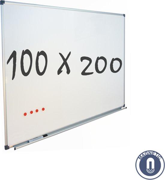 IVOL Whiteboard 100x200cm - Magnetisch - Gelakt staal - Met montagemateriaal
