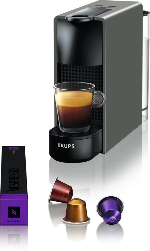 nespresso krups essenza mini xn110b koffiemachine intense grey. Black Bedroom Furniture Sets. Home Design Ideas