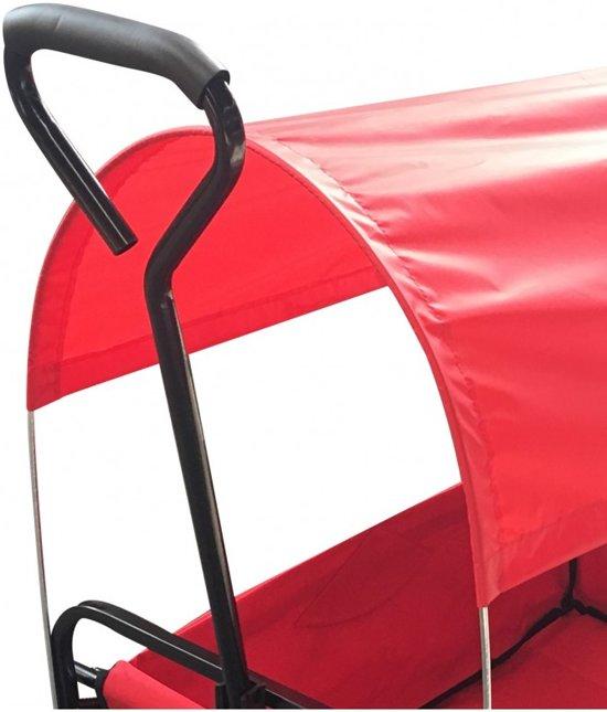 Extra optie: Huif voor bolderwagen - rood
