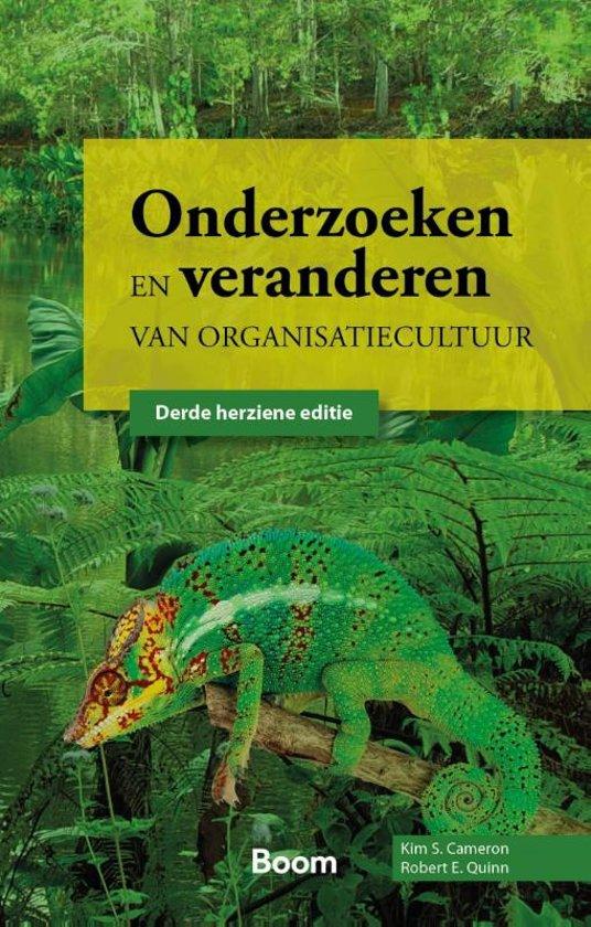 Boek cover Onderzoeken en veranderen van organisatiecultuur van Kim S Cameron (Hardcover)