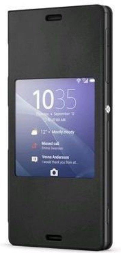 Sony SmartStyle Cover SCR26 - Hoesje voor Xperia Z3 compact - Zwart