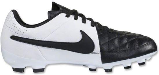 Nike Jr Tiempo Genio Leather FG - Voetbalschoenen - Kinderen - Maat 35 - Zwart;