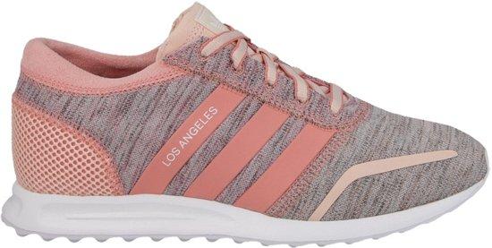 bol.com | Adidas Sneakers Los Angeles Dames Roze/grijs Maat ...