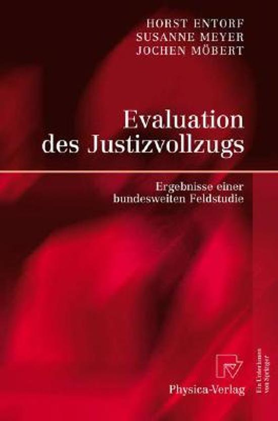 Evaluation Des Justizvollzugs
