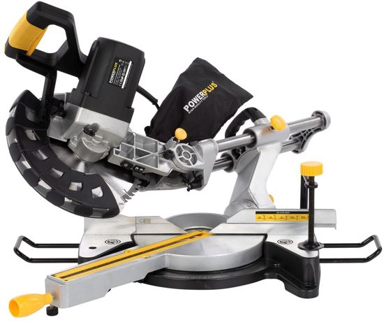 Powerplus POWX07569S Telescopische Dubbelafkortzaag - 2000 W - 254 mm