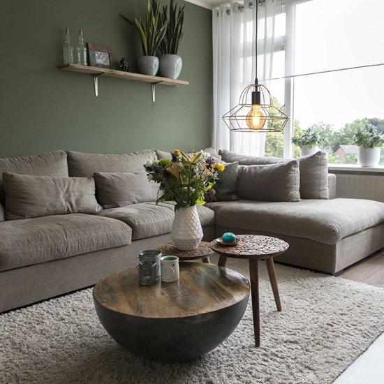 qazqa frame d hanglamp draadlamp zwart lampen kopen. Black Bedroom Furniture Sets. Home Design Ideas