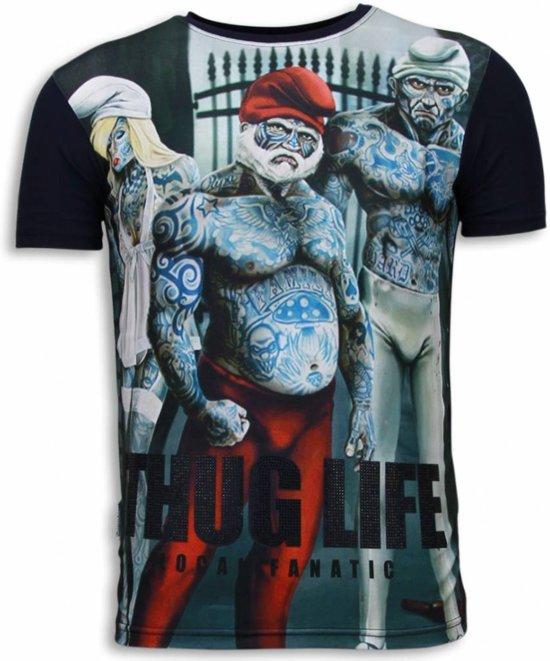Local M Life Fanatic Digital Maten shirt Rhinestone T Navy Thug rwrzqEAT