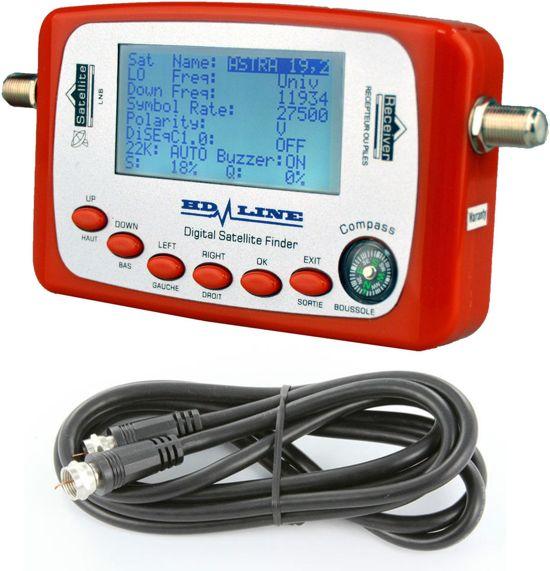 HD-Line SF-500 Digitaal satfinder / satelliet meter (ideaal voor op de camping)