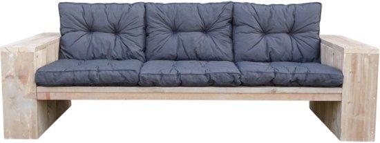 Goedkope loungebank met zwarte kussens for Goedkope lounge kussens