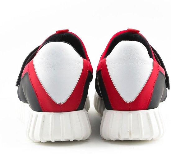 Leandro Sportschoenen Black red Made Italia Heren In I0qTxwaw6