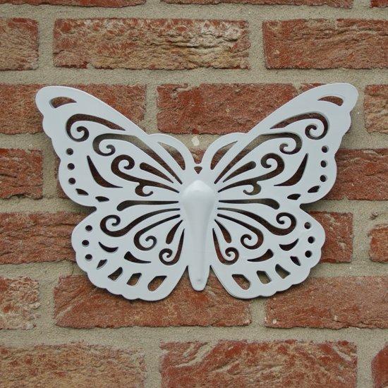 Wanddecoratie Buiten Metaal.Bol Com Vlinder In Metaal Als Mooie Wanddecoratie Voor Binnen Of