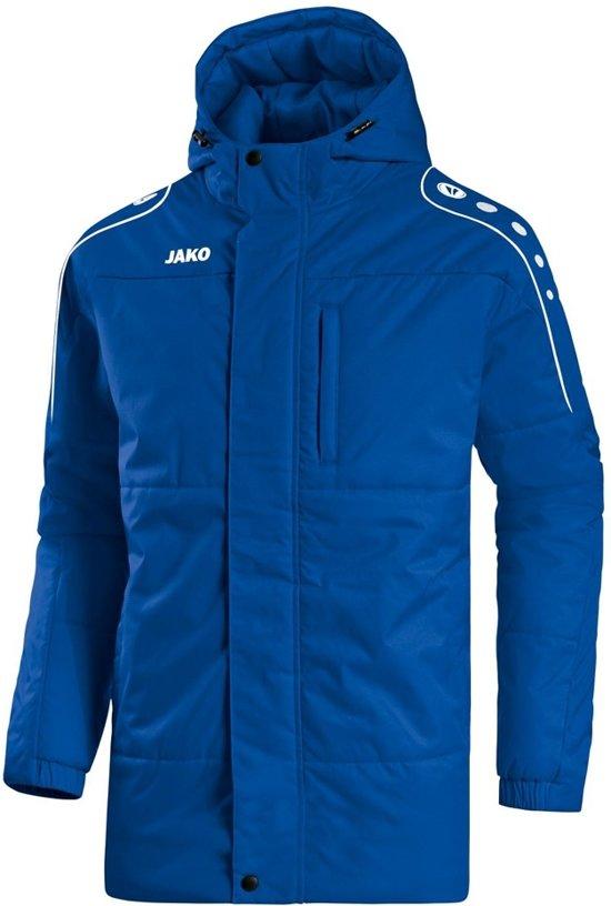 Jako Active Coach Jacket Kinderen - Royal / Wit | Maat: 164