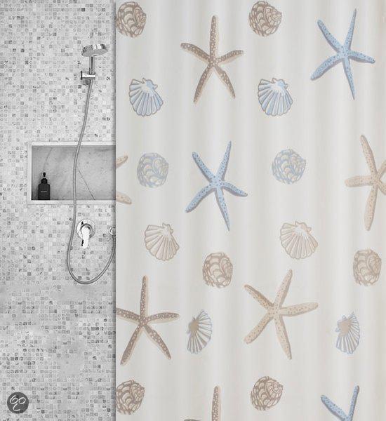 Roomture - douchegordijn - zee - 120 x 200 cm