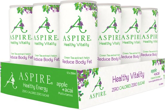 Aspire Drinks - Appel&Acai (12x250ml)