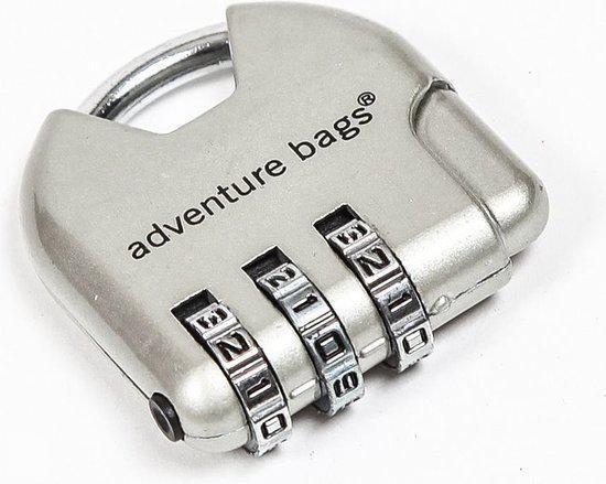 Adventure Bags Cijferslot - Zilver