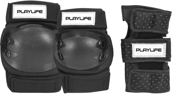Playlife Kniebescherming - zwart