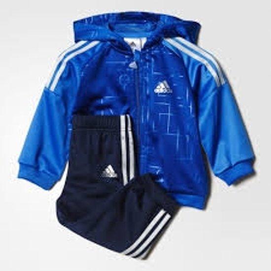 17106002602 bol.com   Adidas Jongens Baby Trainingspak - Kobalt/Navy - Maat 74
