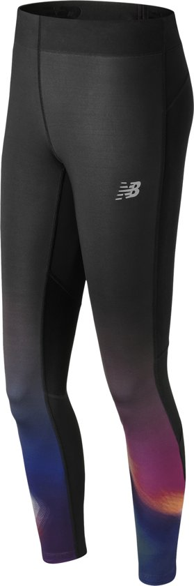 New Balance Impact Premium Printed Tight Hardloopbroek Dames - Infared/Multi