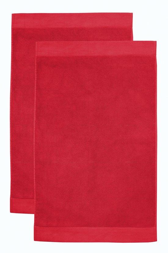 Seahorse Combiset Pure badmat 50 x 90 red (2 stuks)