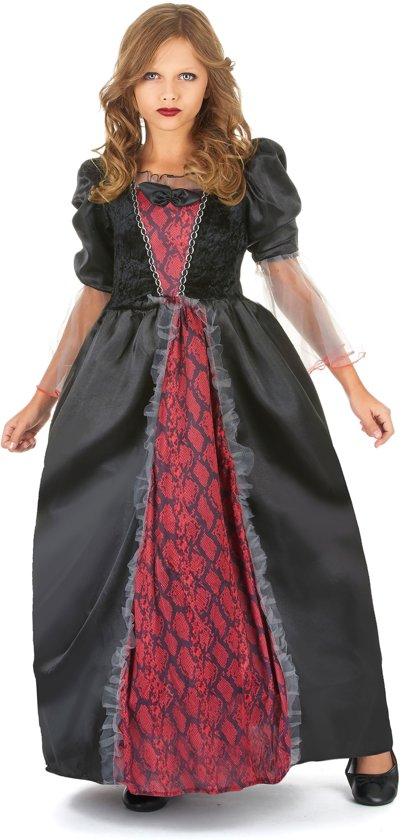 Rood en zwart vampierskostuum voor meisjes - Verkleedkleding - 122/128