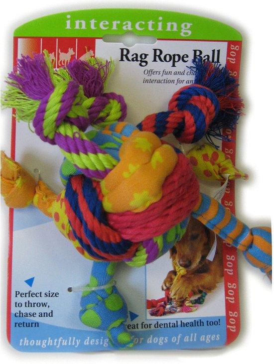 Petstages Rag Rope Ball Assorti per stuk