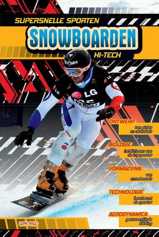 Supersnelle sporten Snowboarden hi tech