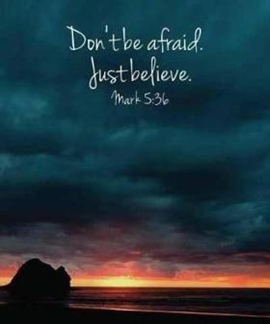 Don't Be Afraid. Just Believe. Mark 5