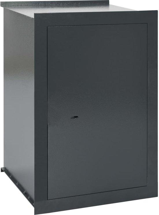 vidaXL Wandkluis 42x36x60 cm donkergrijs
