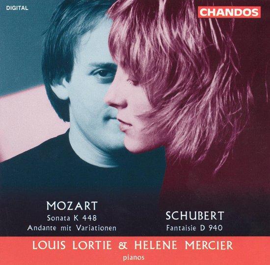Mozart: Sonata K 448; Schubert: Fantaisie / Louis Lortie, Helene Mercier