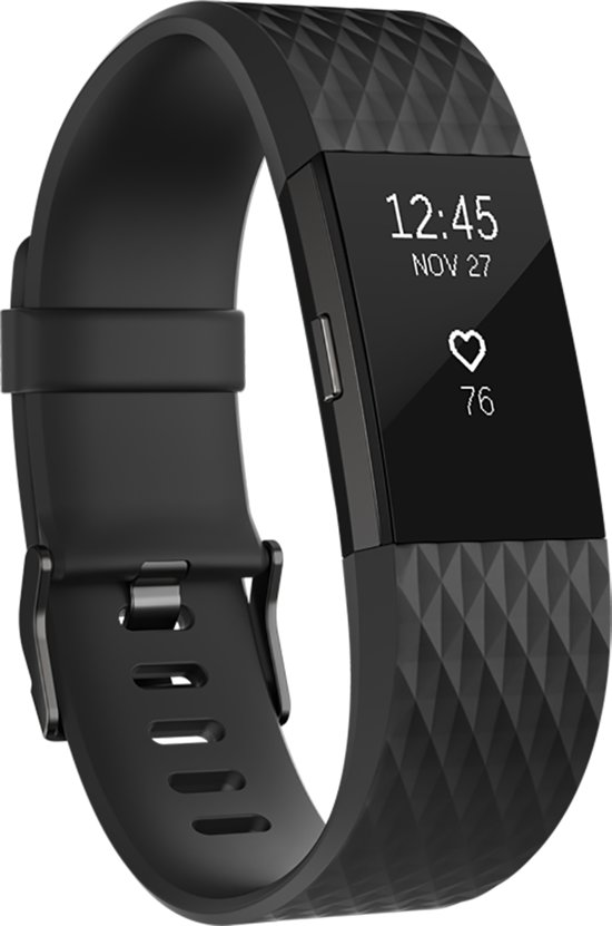 Fitbit Charge 2 - Activity tracker - Zwart Gunmetal Special Edition - Small