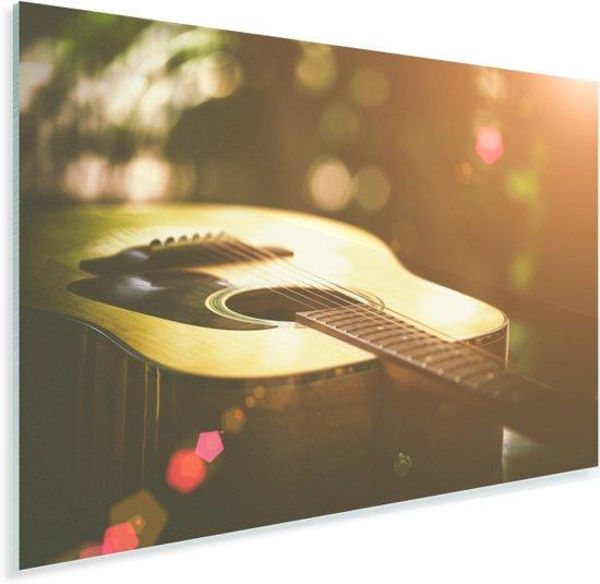 Abstract portret van een akoestische gitaar Plexiglas 120x80 cm - Foto print op Glas (Plexiglas wanddecoratie)