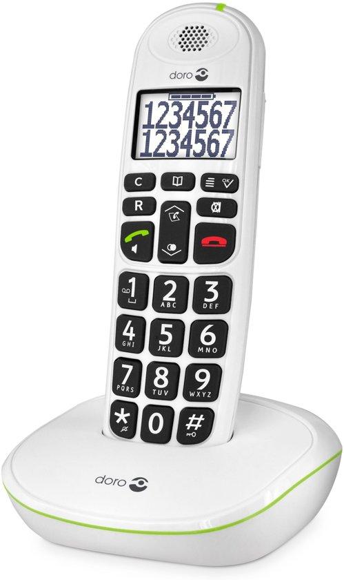 Téléphone fixe DORO PHONEEASY 110 BLANC SOLO SANS REPONDEUR