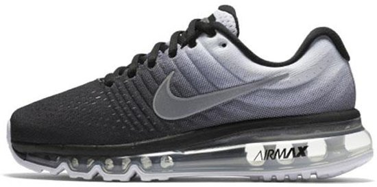 nike air max 2017 zwart wit sport running shoes